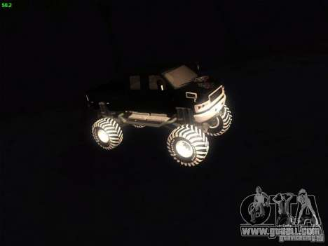 GMC Monster Truck for GTA San Andreas left view