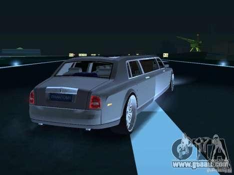 Rolls-Royce Phantom Limousine chauffeur 2003 for GTA San Andreas back view