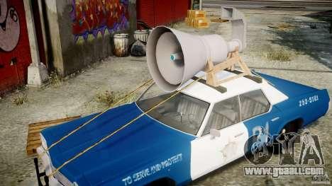 Dodge Monaco 1974 (bluesmobile) for GTA 4 upper view