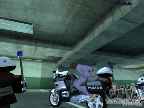 CopBike for GTA San Andreas inner view