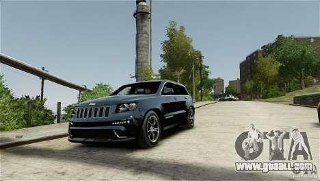 Jeep Grand Cherokee SRT8 for GTA 4 inner view
