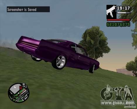 Oldsmobile 442 (Flatout 2) for GTA San Andreas back view