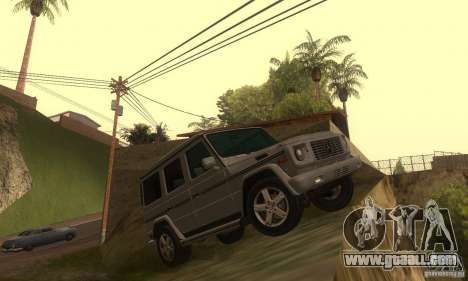 Mercedes-Benz G500 (W463) 2008 for GTA San Andreas back left view