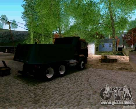 KAMAZ 6520 dump truck for GTA San Andreas left view