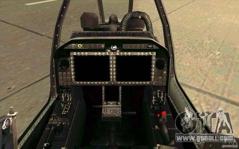 AH-1Z Viper for GTA San Andreas inner view