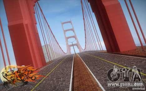New Golden Gate bridge SF v1.0 for GTA San Andreas third screenshot