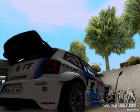 Volkswagen Polo WRC for GTA San Andreas back view
