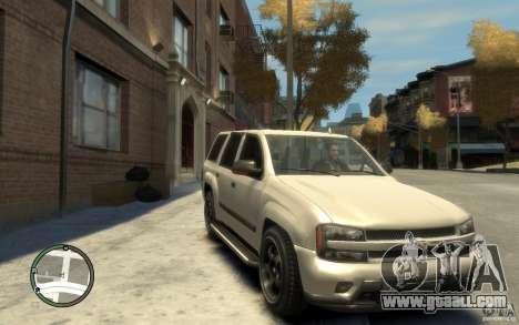 Chevrolet TrailBlazer v.1 for GTA 4 back view