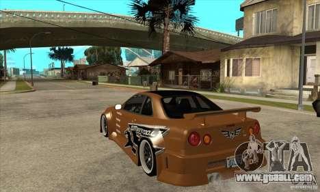 Nissan Skyline GTR - EMzone B-day Car for GTA San Andreas back left view