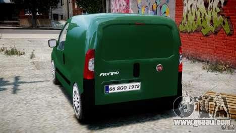 Fiat Fiorino 2008 Van for GTA 4 back left view