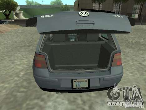 Volkswagen Golf IV for GTA San Andreas back view