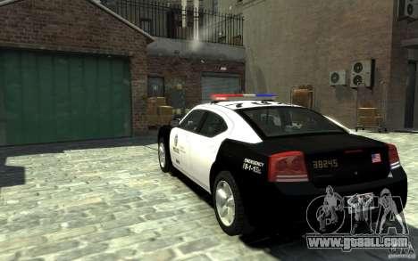Dodge Charger LAPD V1.6 for GTA 4 back left view