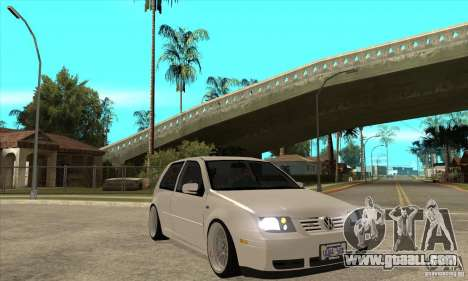 VW Golf 4 V6 Bolf for GTA San Andreas back view