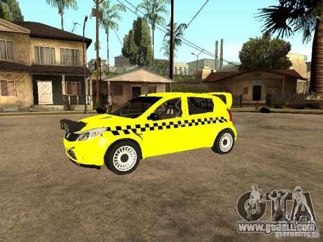 Dacia Sandero Speed Taxi for GTA San Andreas