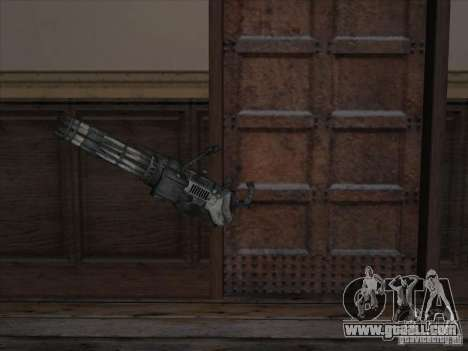 Minigun from Gears of War for GTA San Andreas