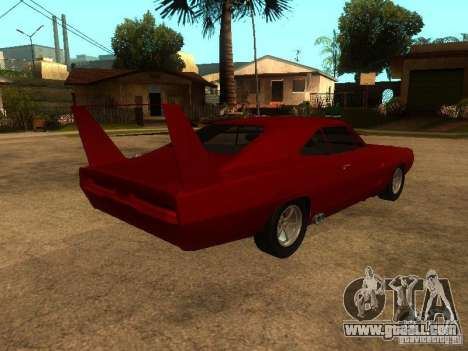 Dodge Charger Daytona Fast & Furious 6 for GTA San Andreas bottom view