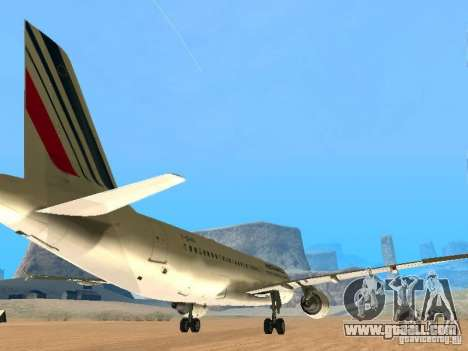 Airbus A320 Air France for GTA San Andreas right view