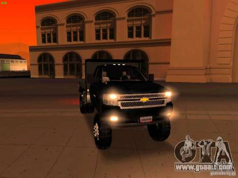 Chevrolet Silverado HD 3500 2012 for GTA San Andreas interior