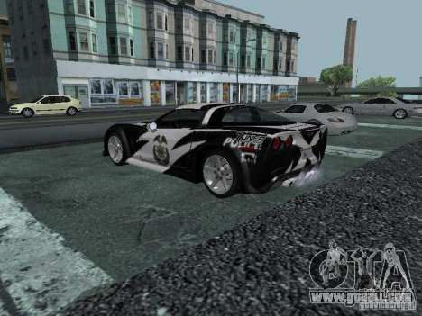 Chevrolet Corvette C6 for GTA San Andreas engine
