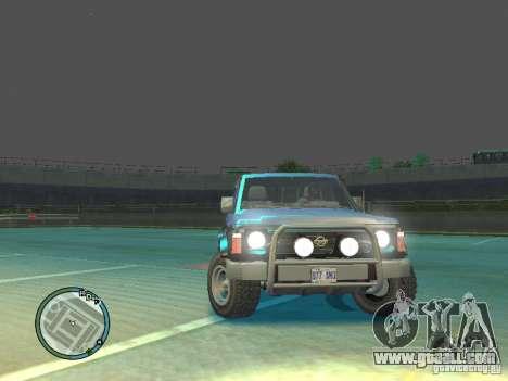 Nissan Safari 1992 for GTA 4 right view