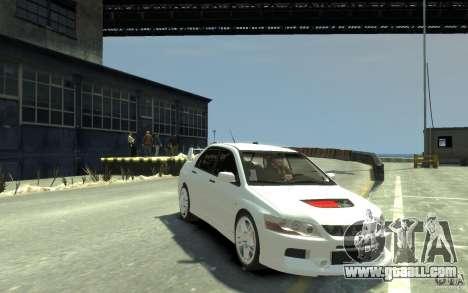Mitsubishi Lancer Evolution IX for GTA 4 back view