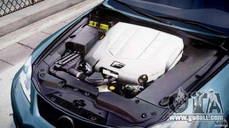 Lexus IS F for GTA 4 inner view