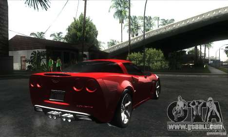 Chevrolet Corvette Grand Sport 2010 for GTA San Andreas wheels