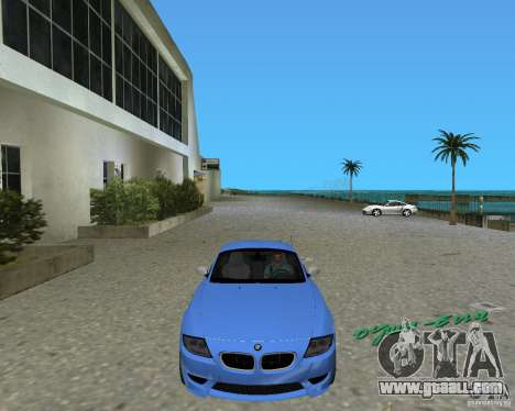 BMW Z4 for GTA Vice City back left view