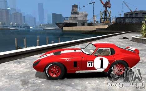 Shelby Cobra Daytona Coupe 1965 for GTA 4 left view
