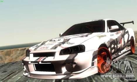 Nissan Skyline R34 Blitz for GTA San Andreas