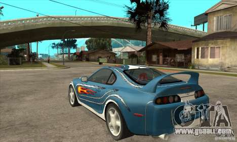 Toyota Supra NFSMW Tunable for GTA San Andreas right view