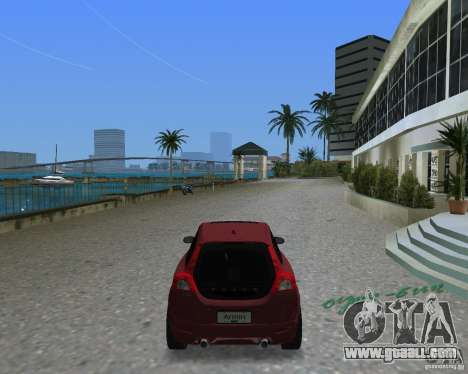 Volvo C30 for GTA Vice City back left view