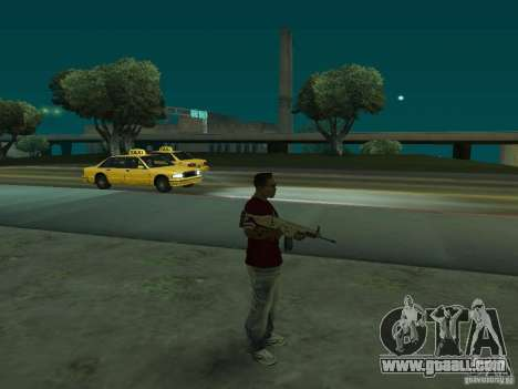 FN Scar-L HD for GTA San Andreas third screenshot