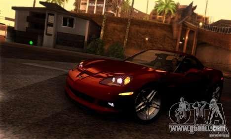 Chevrolet Corvette Z06 for GTA San Andreas back left view