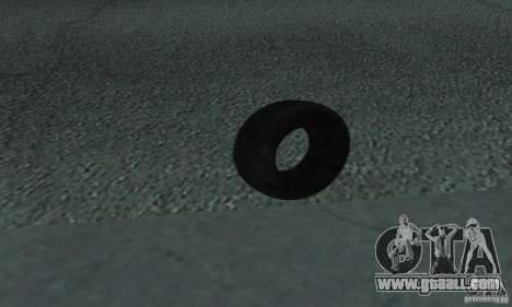 Tires for GTA San Andreas left view