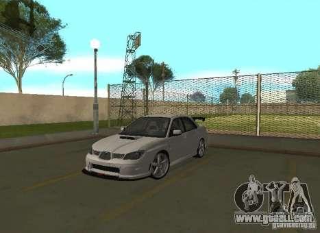 Subaru Impreza WRX STI-Street Racing for GTA San Andreas interior