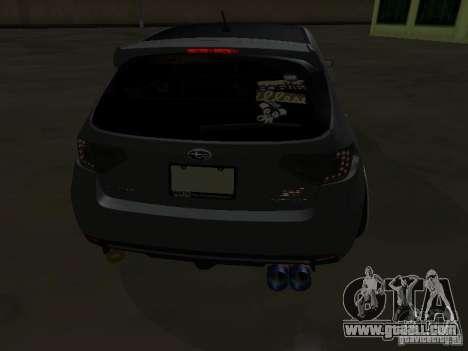 Subaru Impreza STI hellaflush for GTA San Andreas right view