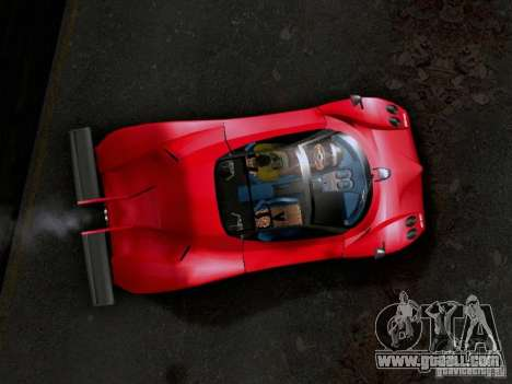 Pagani Zonda EX-R for GTA San Andreas back left view