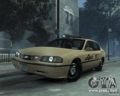 Chevrolet Impala 2003 Taxi for GTA 4