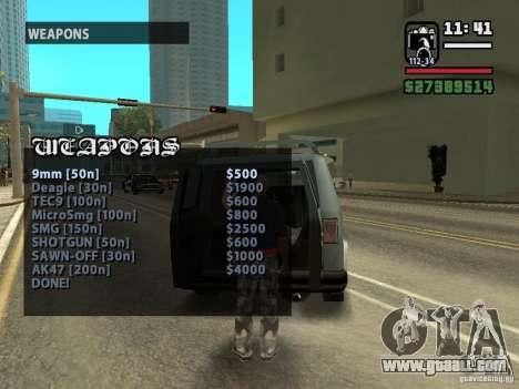 Call seller Weapons v1.1 for GTA San Andreas third screenshot
