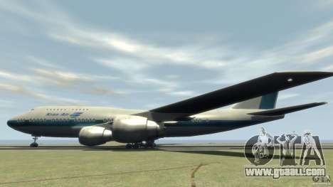 Boening 747-400 Kras Air for GTA 4 left view