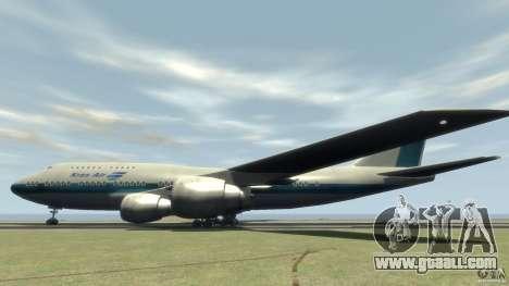Boening 747-400 Kras Air for GTA 4 left view