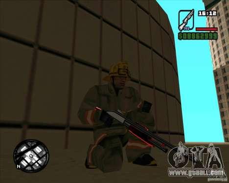 Chrome black red gun pack for GTA San Andreas third screenshot
