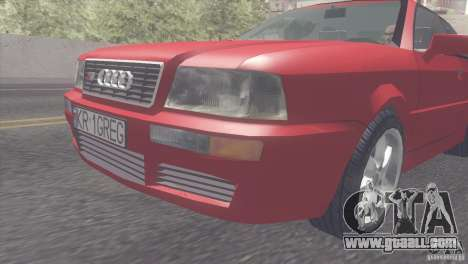 Audi S2 for GTA San Andreas back left view