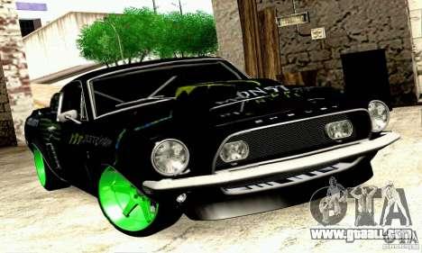 Shelby GT500 Monster Drift for GTA San Andreas back left view