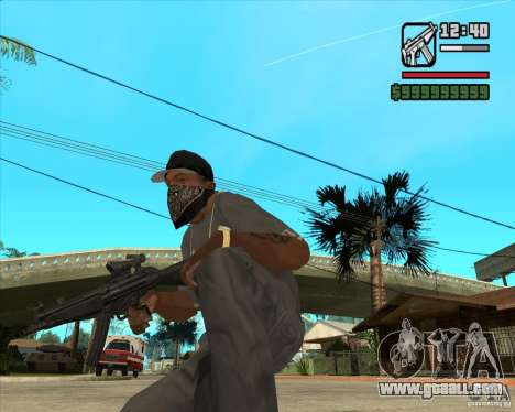 MP5 AGOG for GTA San Andreas second screenshot