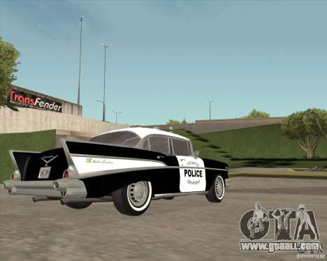 Chevrolet BelAir Police 1957 for GTA San Andreas back view