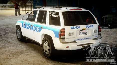 Chevrolet Trailblazer Police V1.5PD [ELS] for GTA 4 back left view