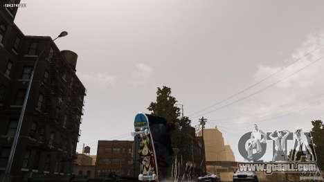 Skateboard # 4 for GTA 4 back left view