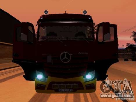 Mercedes Benz Actros MP4 for GTA San Andreas engine
